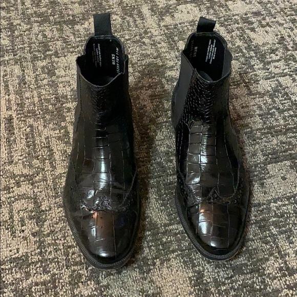 STACY ADAMS Men/'s Frontera Croc Wingtip Chelsea Ankle Boot